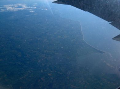 The Irish coast in Co Wexford from the air