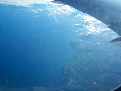The Welsh coast near St David's from the air.