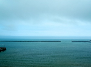 France in distance from Dover Castle.