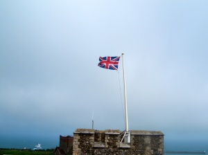The Union Flag over Dover Castle.