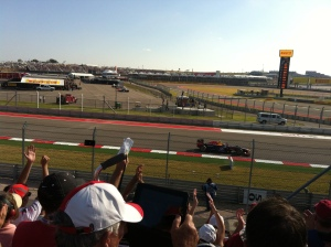 Mark Webber (AUS) coming up to Turn 12.